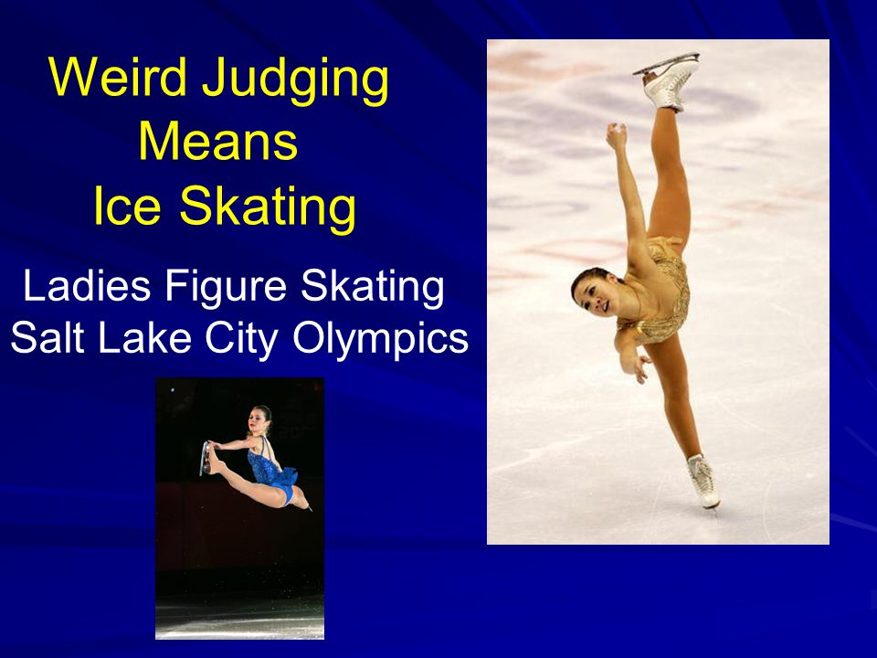 Weird Judging Means Ice Skating Ladies Figure Skating Salt Lake City Olympics