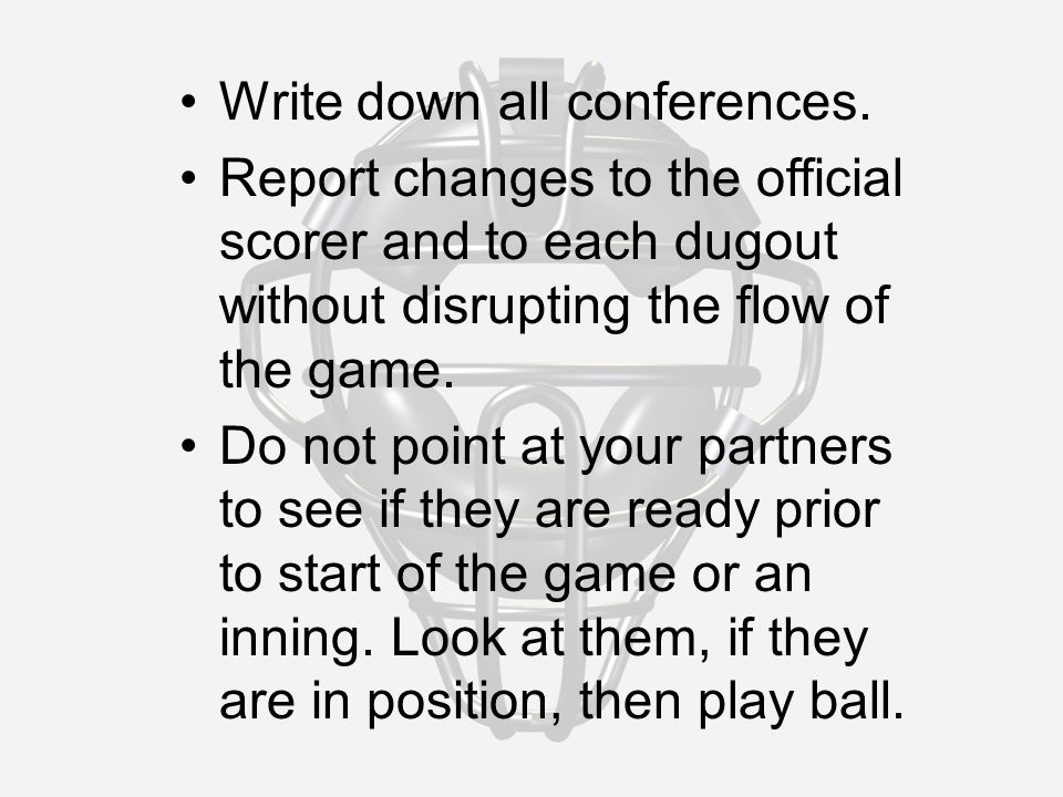 Write down all conferences.