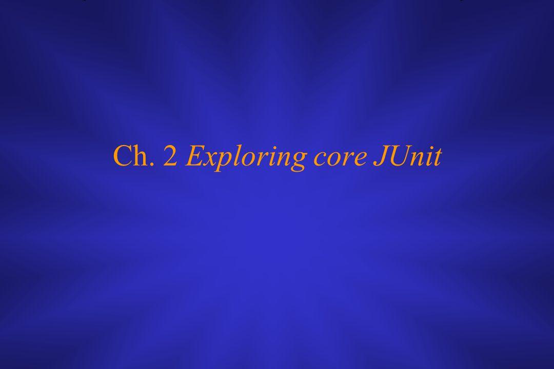 Ch. 2 Exploring core JUnit