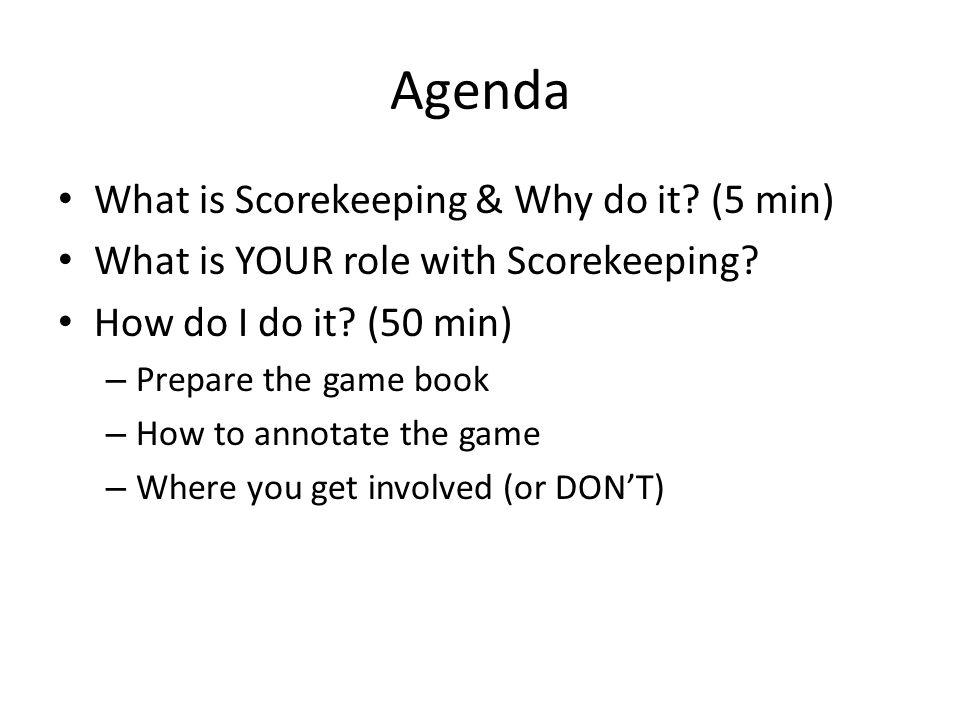 What is Scorekeeping.