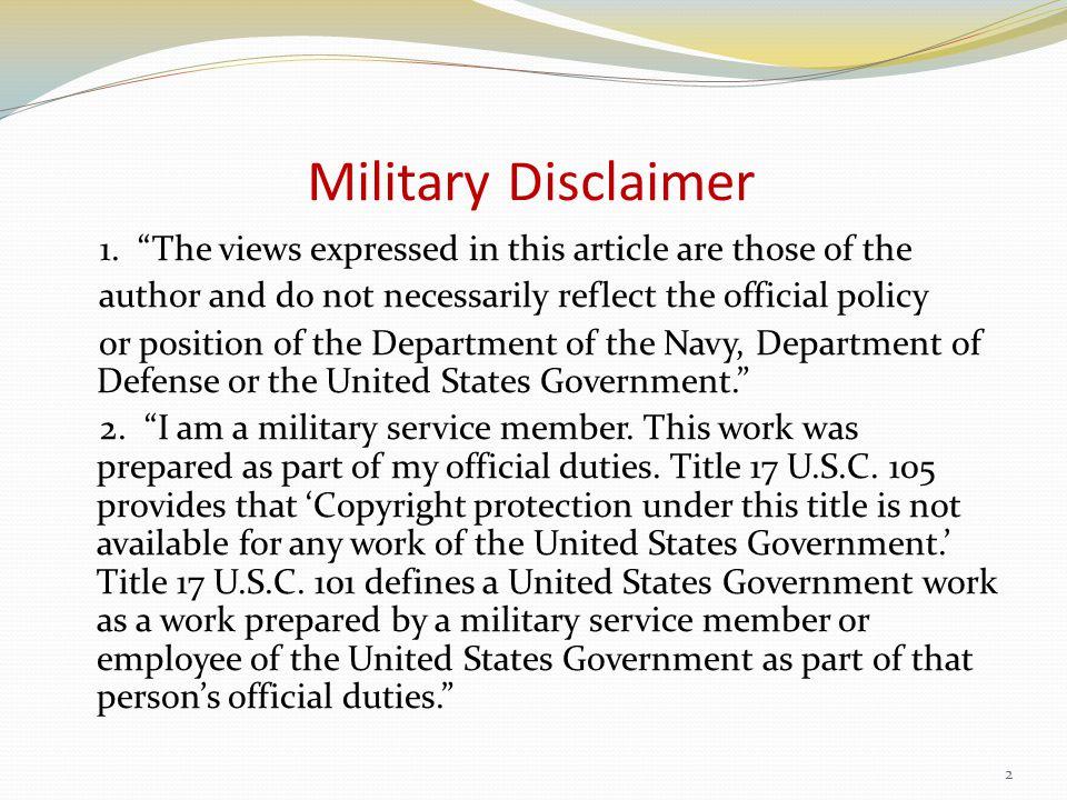Military Disclaimer 1.