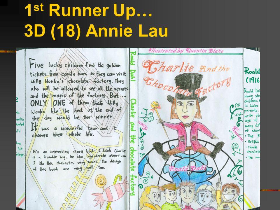 1 st Runner Up … 3D (18) Annie Lau