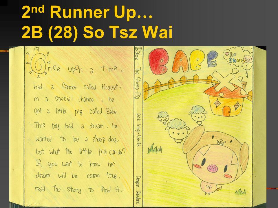2 nd Runner Up … 2B (28) So Tsz Wai