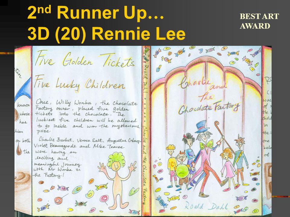 2 nd Runner Up … 3D (20) Rennie Lee BEST ART AWARD