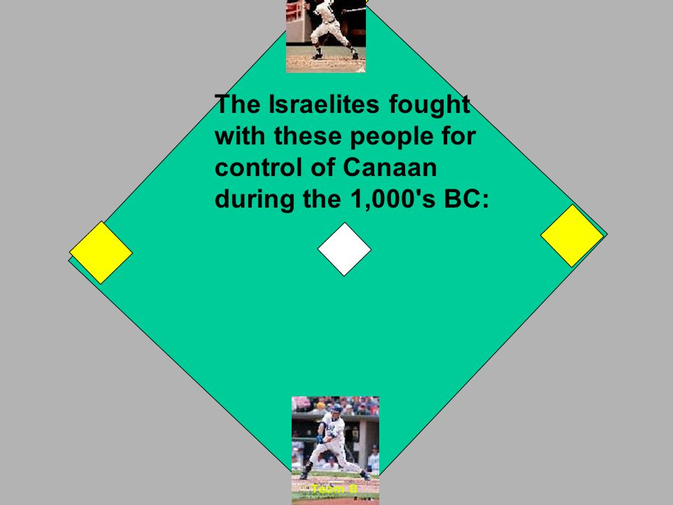 a special agreement between the Israelites and their God Go to 2nd st base. If you were wrong, the other team is up! NEXT OUT!