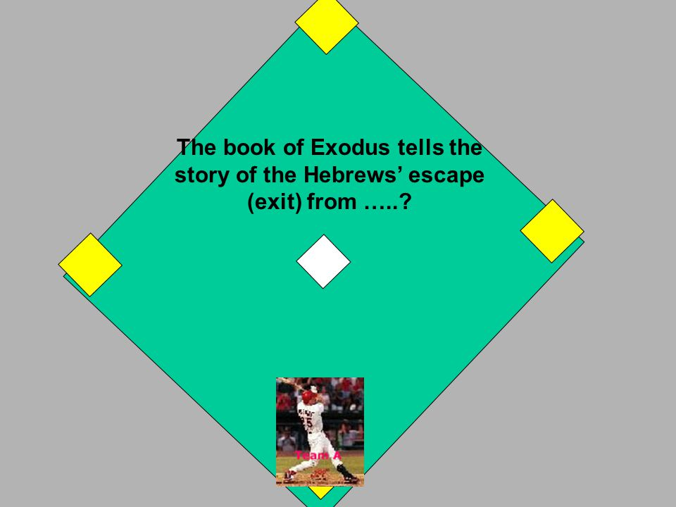 Genesis is the first book of the Torah - or of the Hebrew Bible - or of the Bible. If you answered one of the above, you have a 1st base hit. Your run