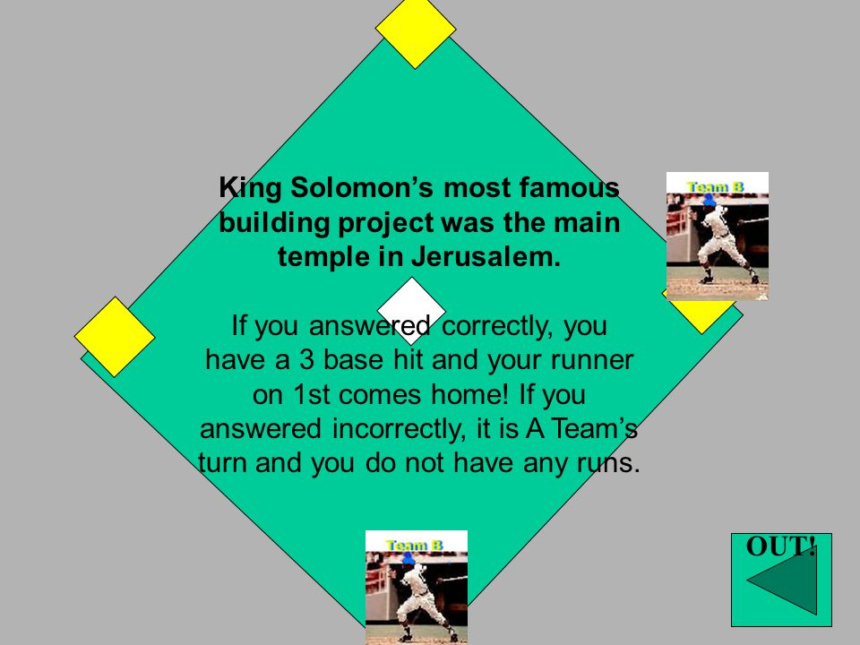King Solomon's most famous building project was…?
