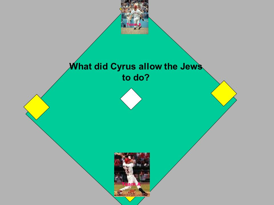Cyrus the Great took control of Babylon in 540 BC. If you answered correctly, you have a 2 base hit. Your runner on 2nd comes home. If you answered in