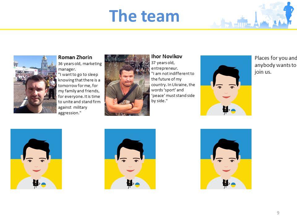 The team 9 Ihor Novikov 37 years old, entrepreneur.