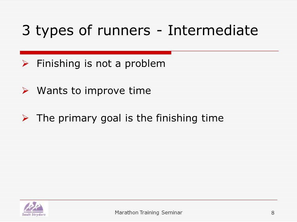 Marathon Training Seminar 29 Sun Mon Tues Wed Thur Fri Sat