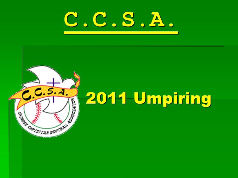 2011 Umpiring C.C.S.A.