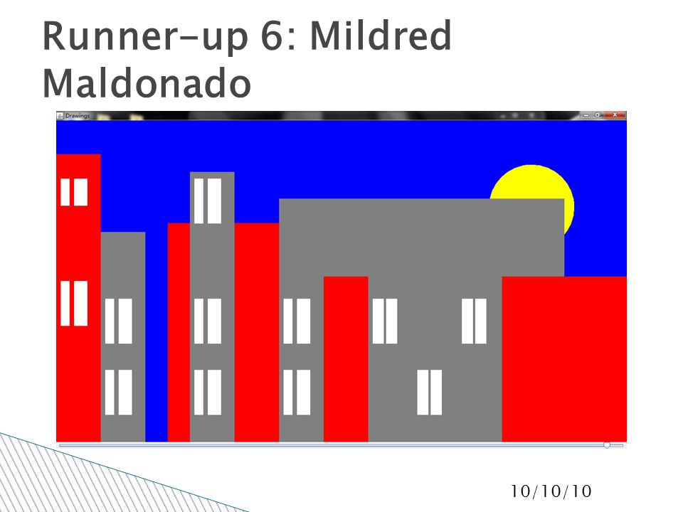 10/10/10 Runner-up 6: Mildred Maldonado