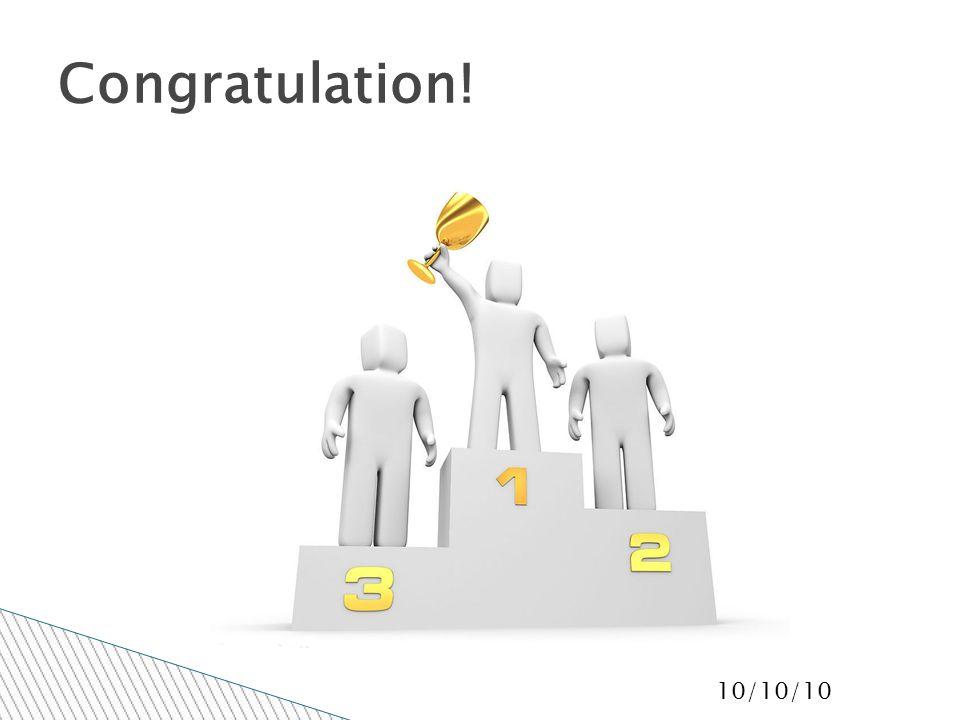 10/10/10 Congratulation!