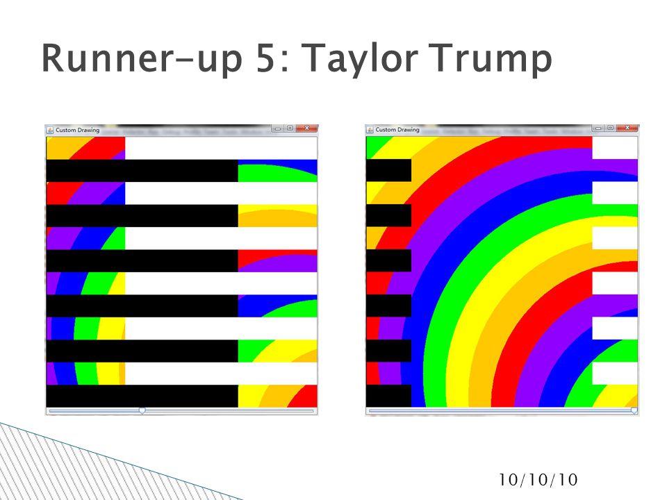 10/10/10 Runner-up 5: Taylor Trump