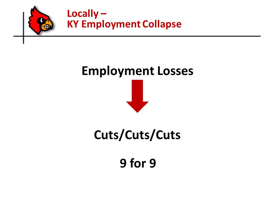 Locally – KY Employment Collapse Employment Losses Cuts/Cuts/Cuts 9 for 9