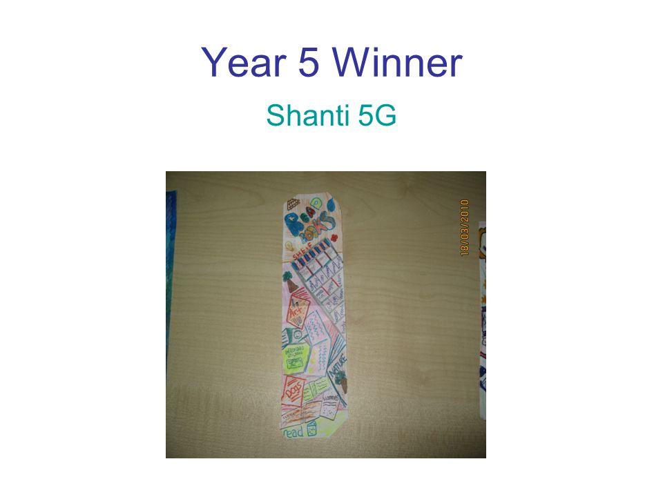 Year 5 Winner Shanti 5G
