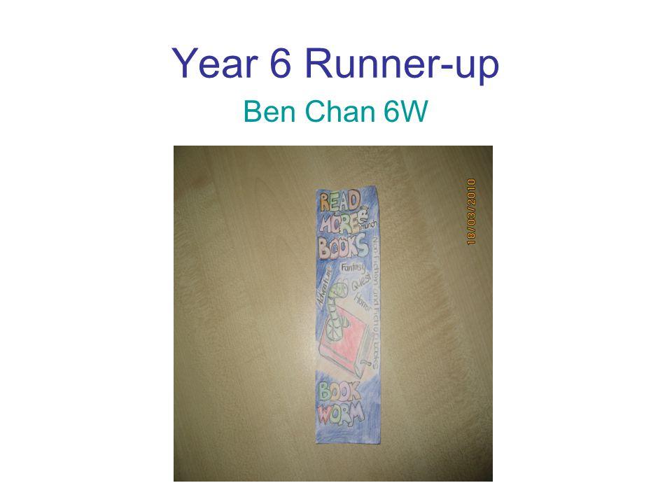 Year 6 Runner-up Ben Chan 6W