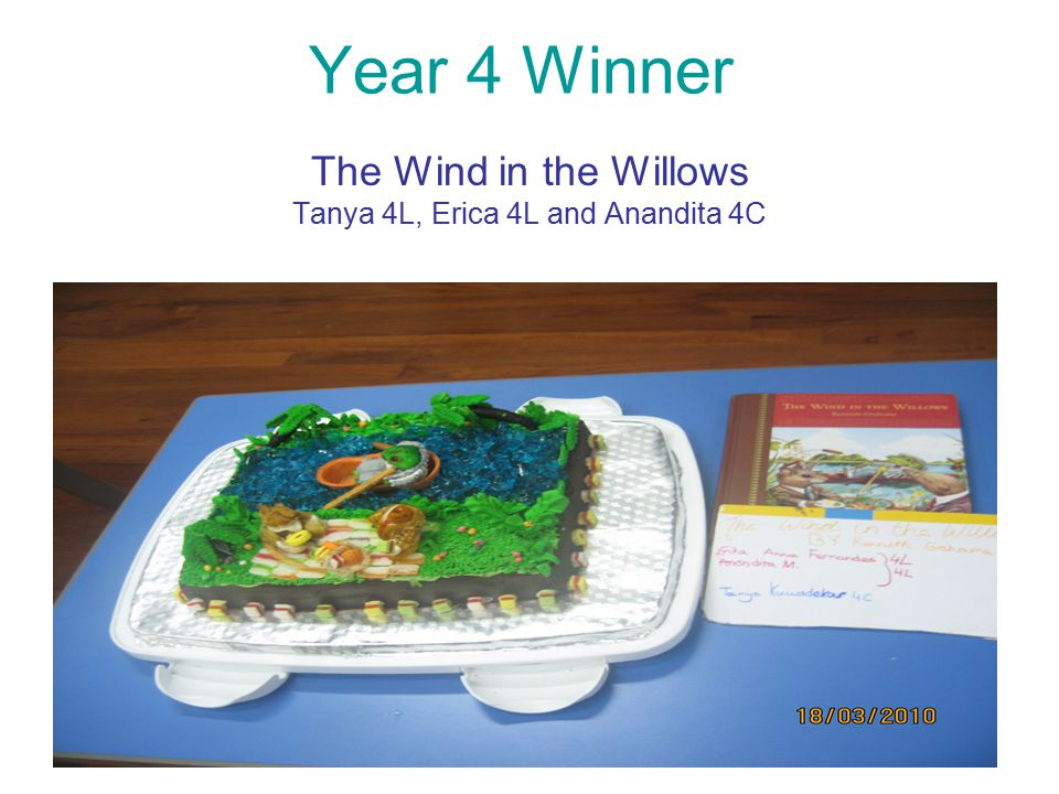 Year 4 Winner The Wind in the Willows Tanya 4L, Erica 4L and Anandita 4C