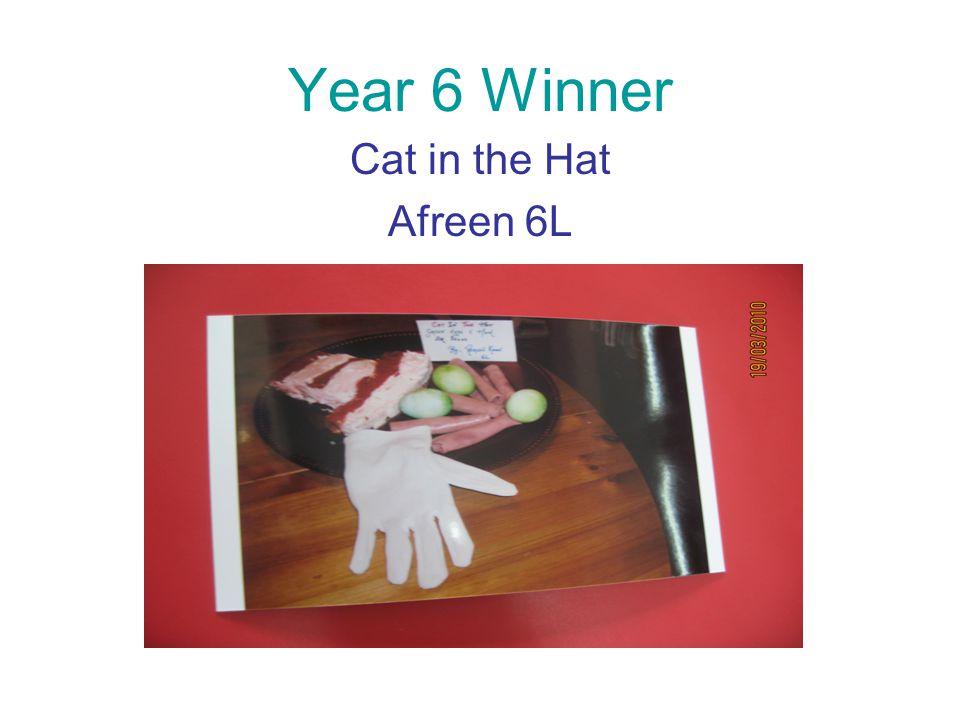 Year 6 Winner Cat in the Hat Afreen 6L
