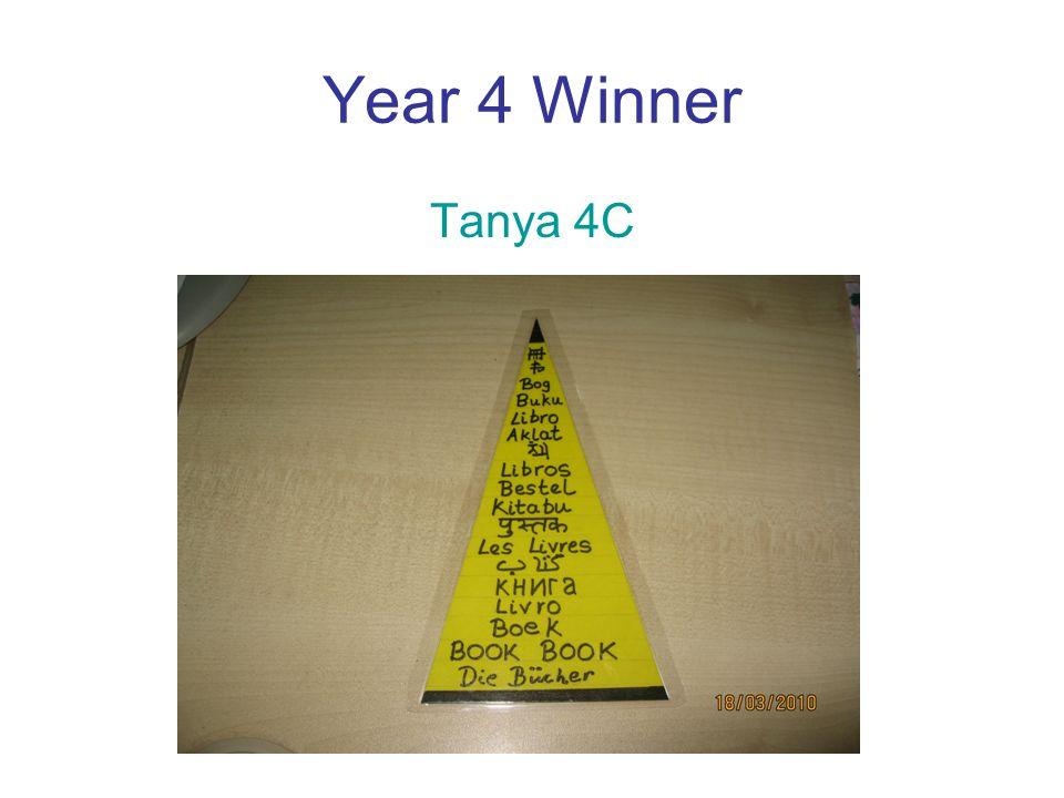 Year 4 Winner Tanya 4C