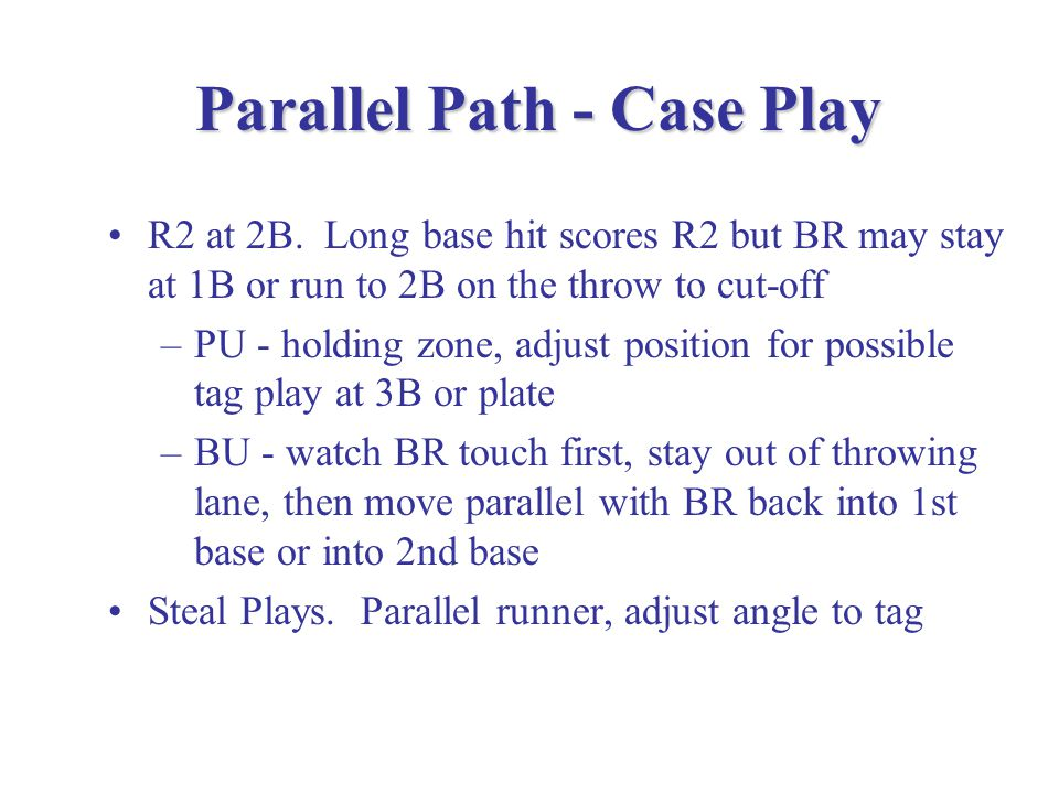 Key Concept: Parallel Path to the Runner a.k.a.