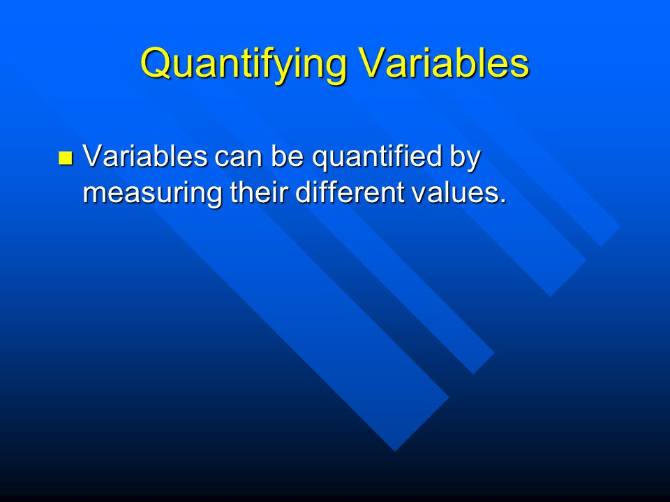 Variables and Hypotheses Experimental scientists must try to relate some terms of a hypothesis to dependent variables and some of them to independent variables.