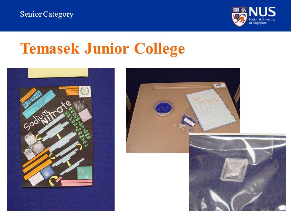 Senior Category Temasek Junior College
