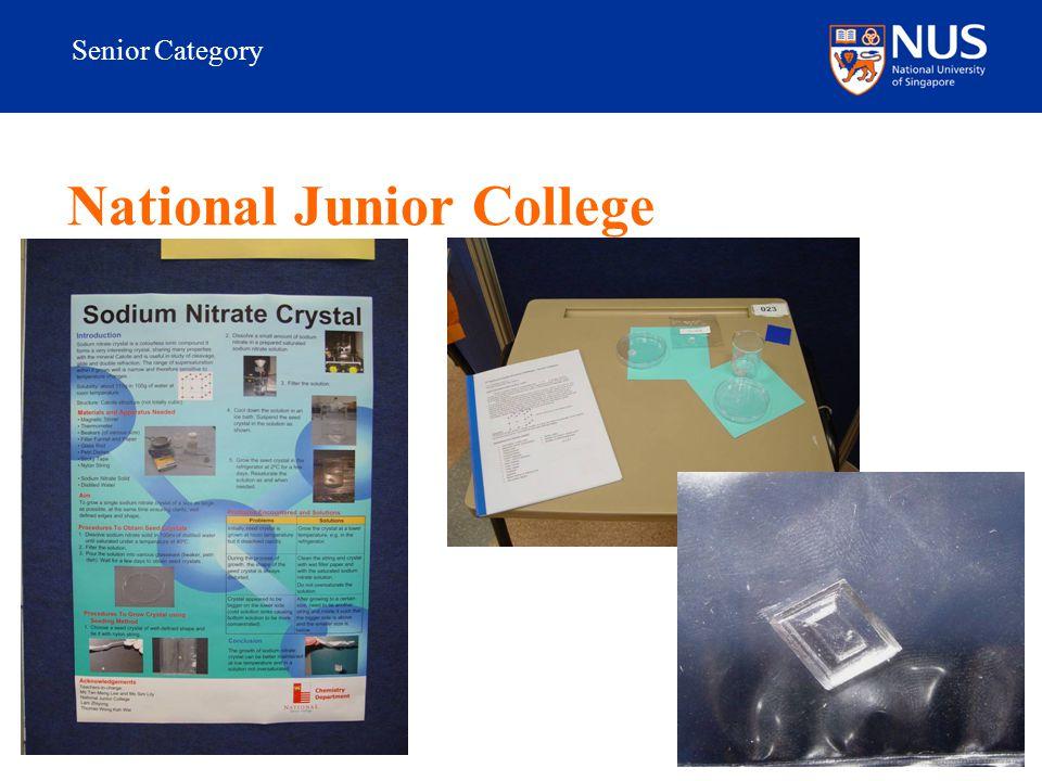 Senior Category National Junior College