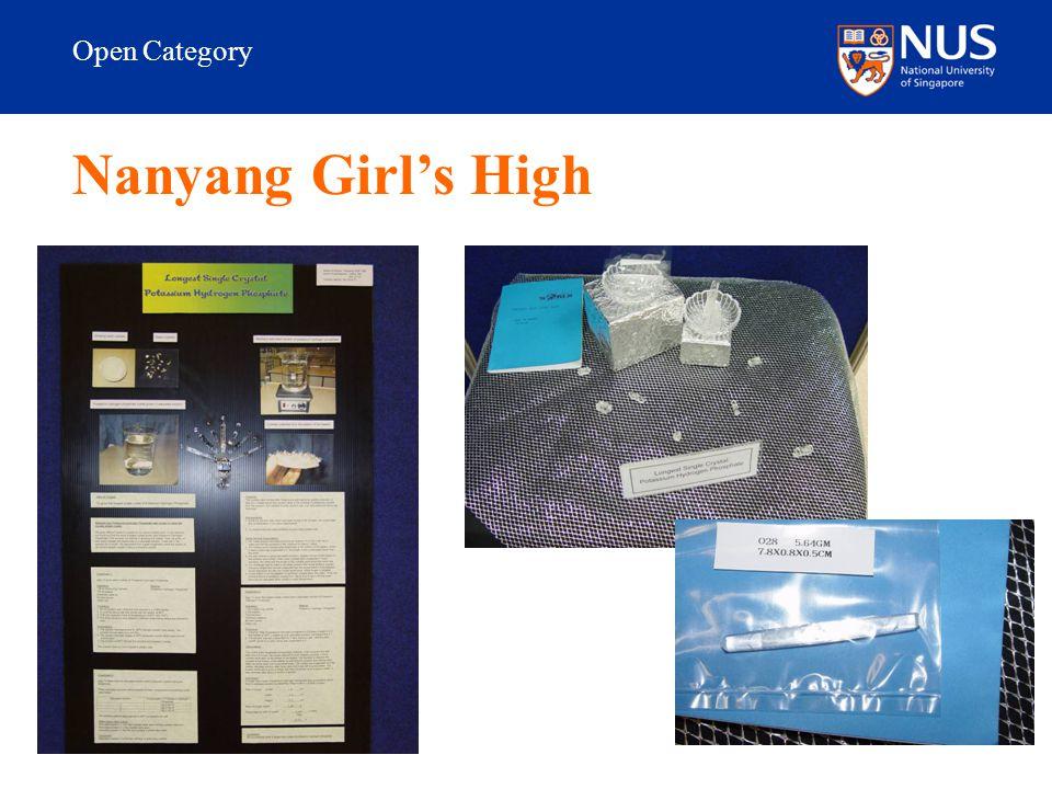 Open Category Nanyang Girl's High