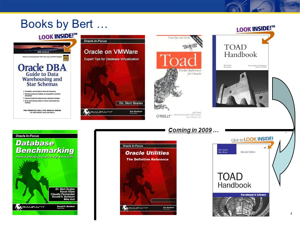 4 Books by Bert … Coming in 2009 …