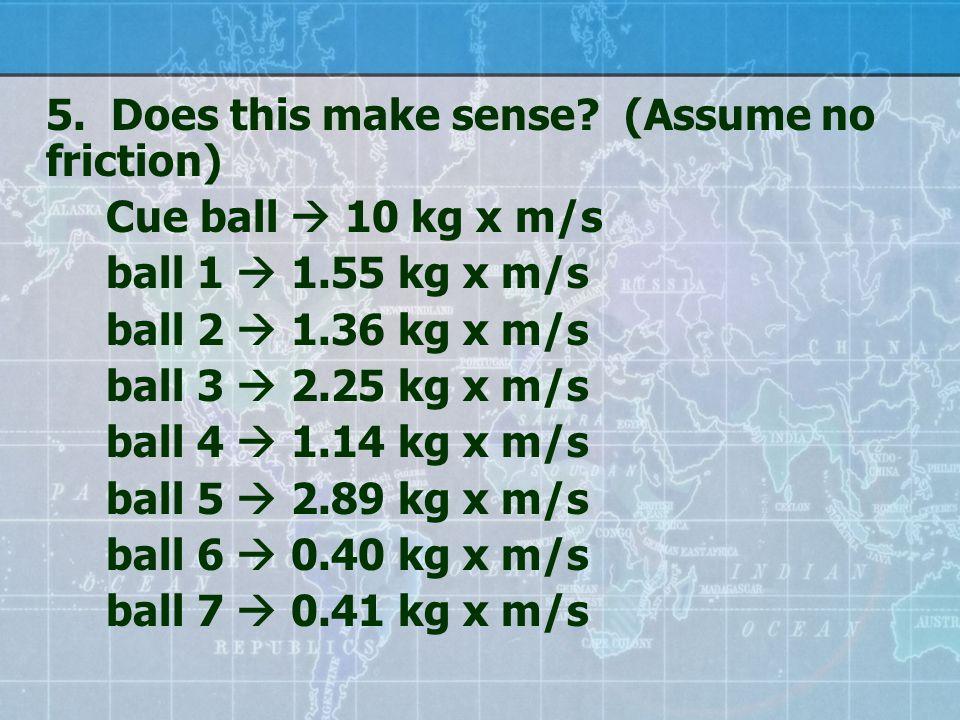 5. Does this make sense.
