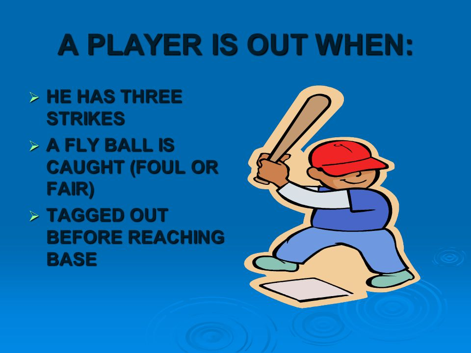 RULES  7 INNINGS IN A REGULATION GAME  VISITORS HIT FIRST  AN INNING IS A PART OF THE GAME WHERE BOTH TEAMS BAT AND 3 OUTS HAVE OCCURRED FOR EACH TEAM