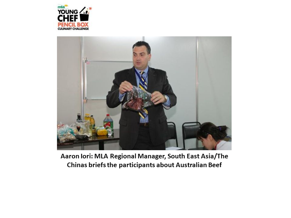 Aaron Iori: MLA Regional Manager, South East Asia/The Chinas briefs the participants about Australian Beef
