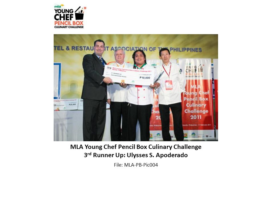 MLA Young Chef Pencil Box Culinary Challenge 3 rd Runner Up: Ulysses S.