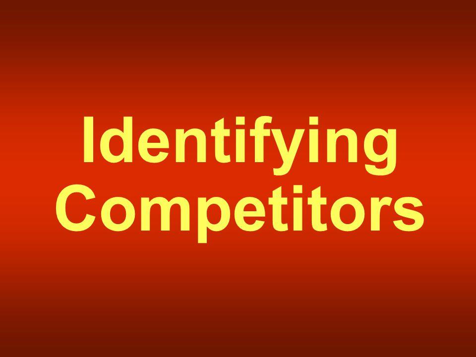 Identifying Competitors