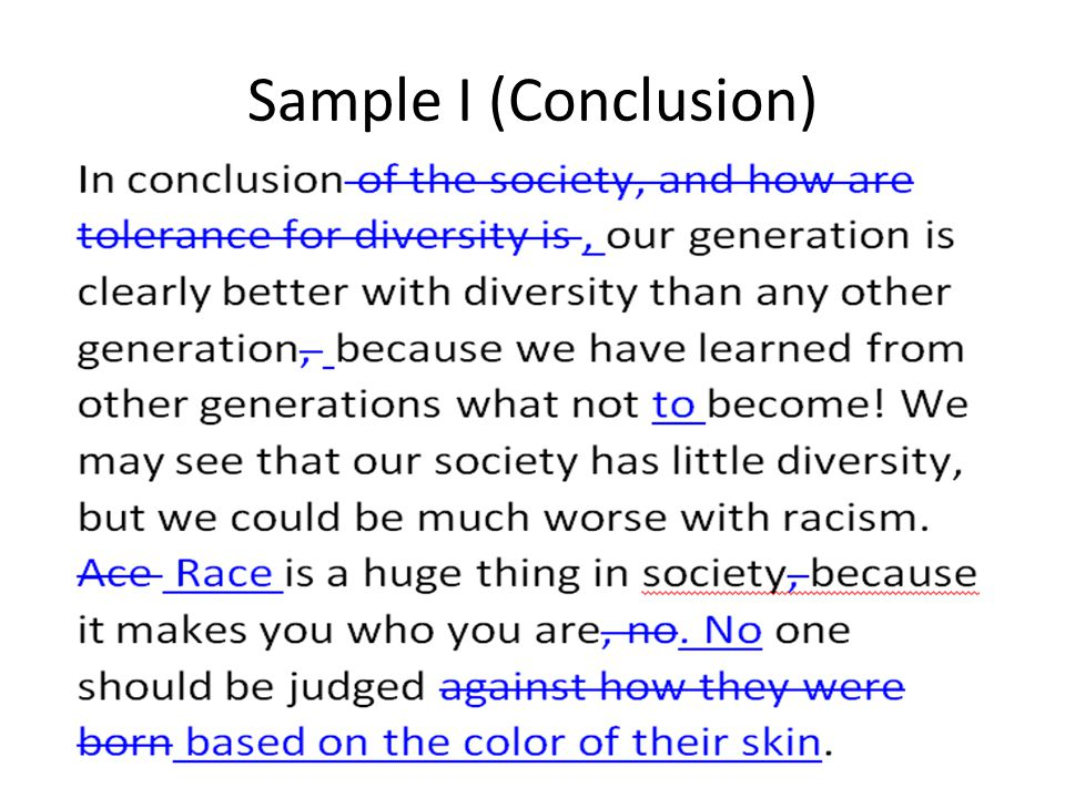 Sample I (Conclusion)
