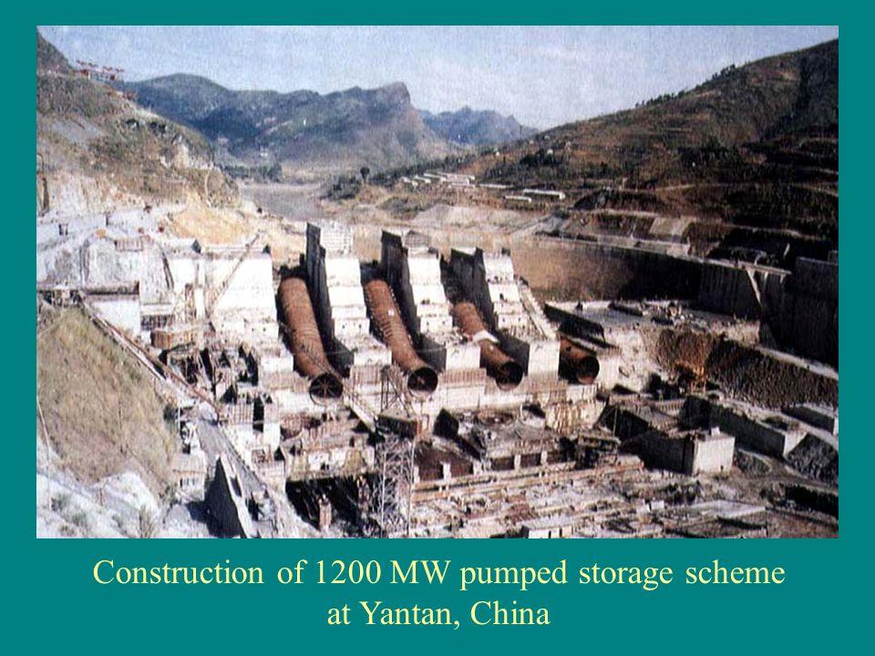 Construction of 1200 MW pumped storage scheme at Yantan, China