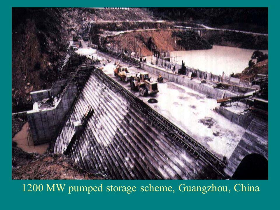1200 MW pumped storage scheme, Guangzhou, China