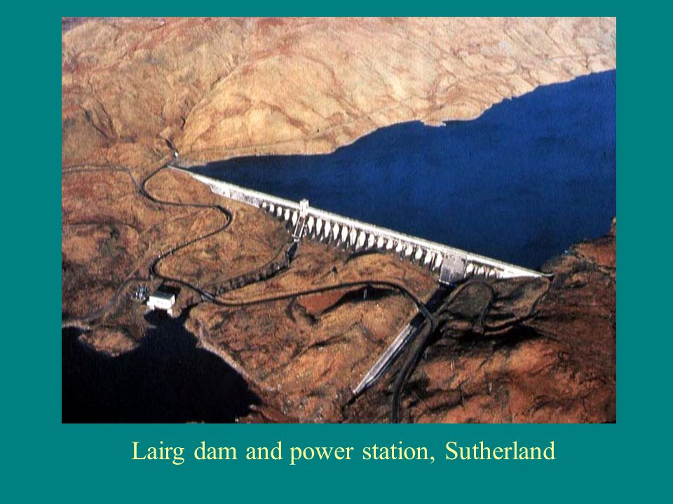Lairg dam and power station, Sutherland