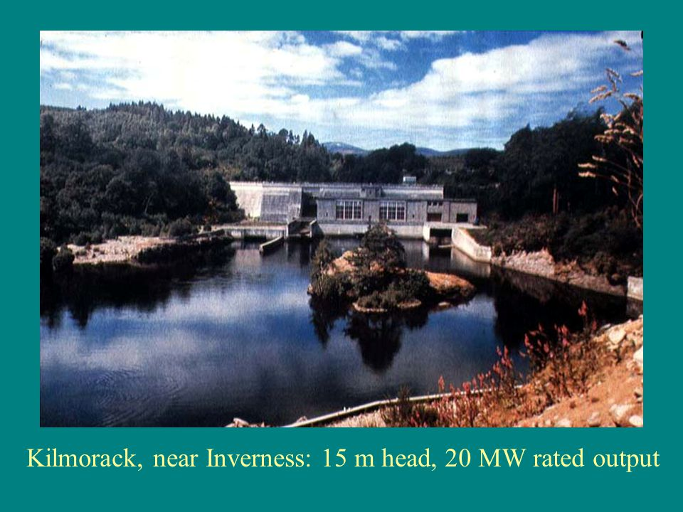 Kilmorack, near Inverness: 15 m head, 20 MW rated output