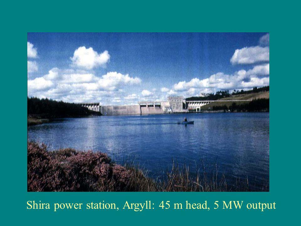 Shira power station, Argyll: 45 m head, 5 MW output