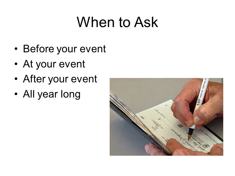 Before your event At your event After your event All year long