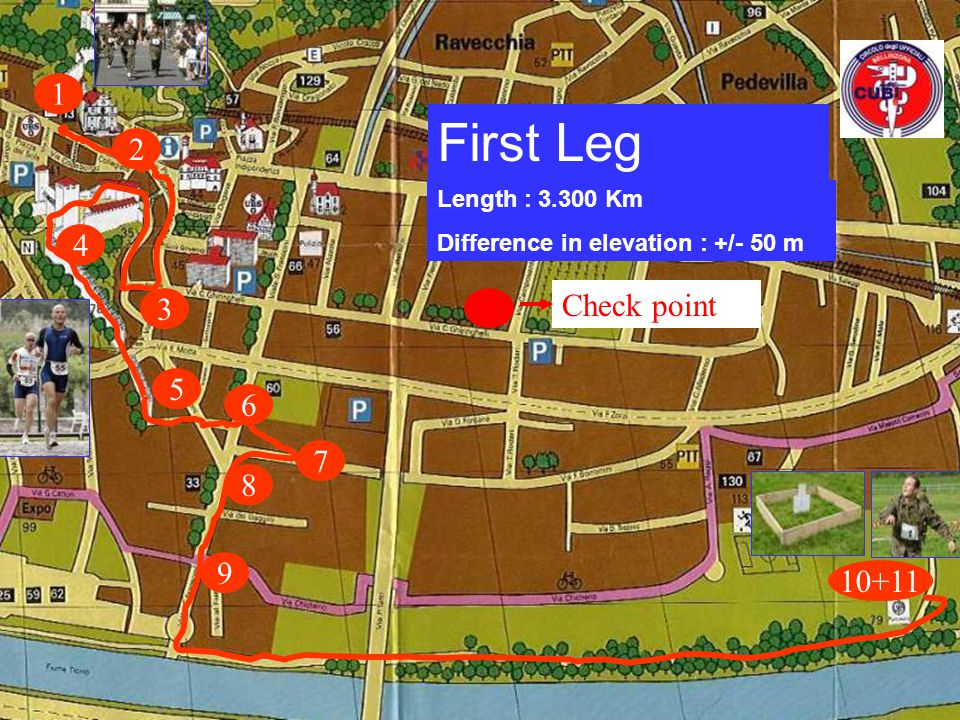 Directions to the race / lodging Near the youth sport centre (see first map) ( centro gioventù e sport ) The rooms are simple but comfortable : - 15 euro for one night with breakfast (including sheets) - 10 euro for the lunch meal