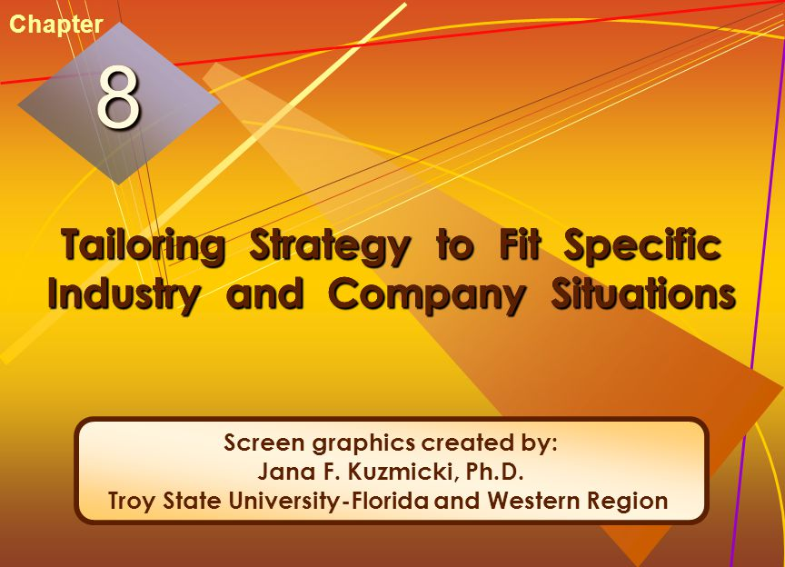 McGraw-Hill/Irwin© 2005 The McGraw-Hill Companies, Inc. All rights reserved. 8-2 Tailoring Strategy to Fit Specific Industry and Company Situations 88
