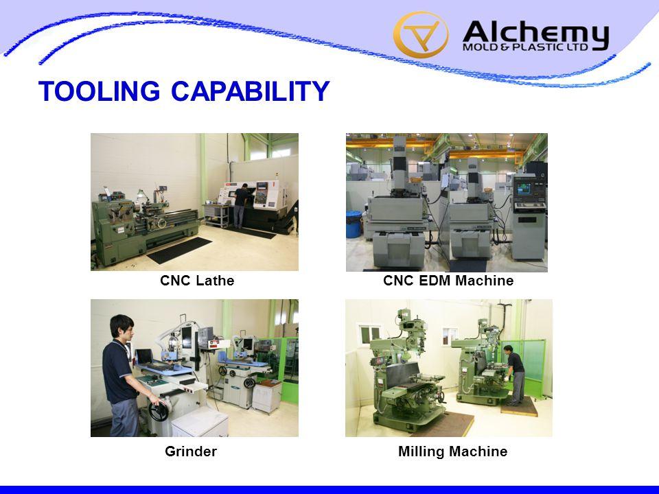 TOOLING CAPABILITY CNC LatheCNC EDM Machine GrinderMilling Machine