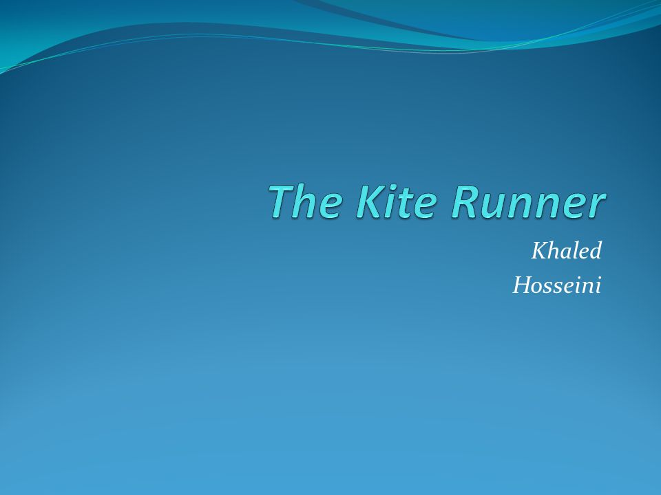 The Kite Runner I became what I am today at the age of twelve, on a frigid overcast day in the winter of 1975.