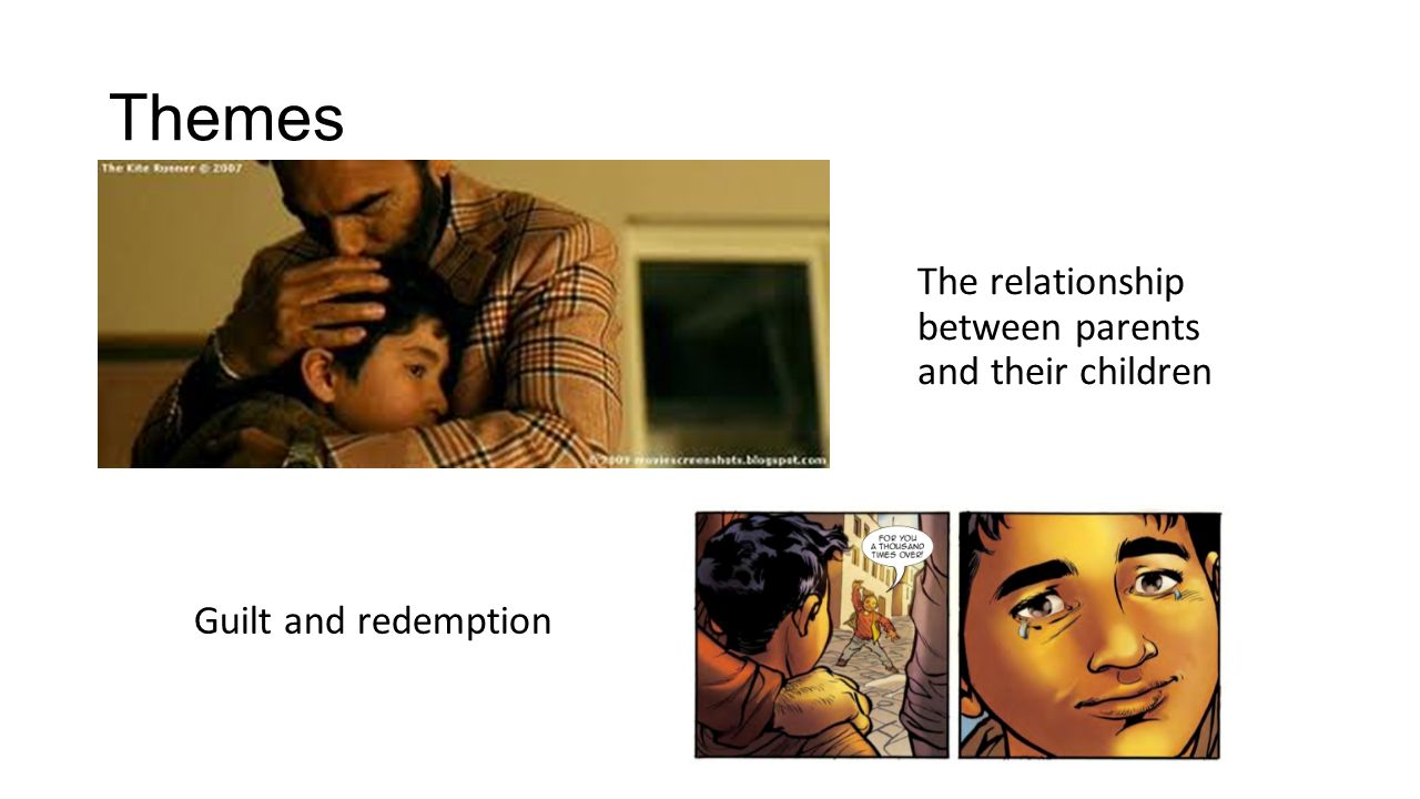 Themes The relationship between parents and their children Guilt and redemption