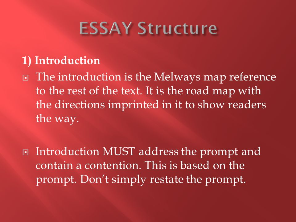 1) Introduction  The introduction is the Melways map reference to the rest of the text.
