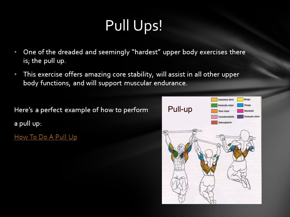 The most basic and most simple exercise to perform; this movement will wrap up every other movements potential.