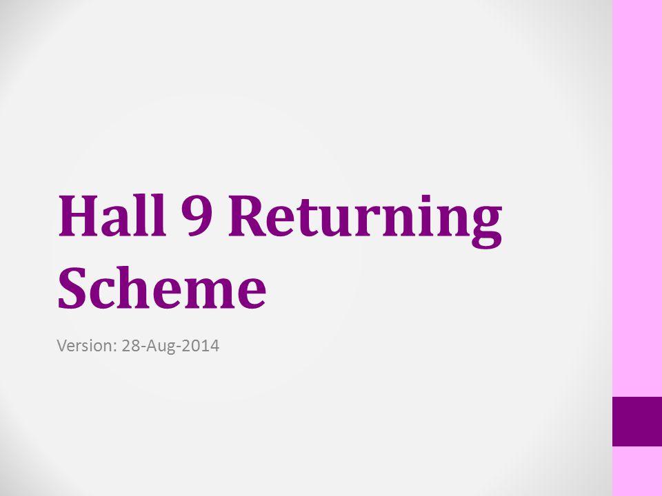 Hall 9 Returning Scheme Version: 28-Aug-2014